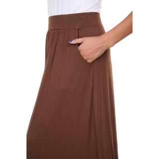 White Mark Women's Rayon Maxi Skirt