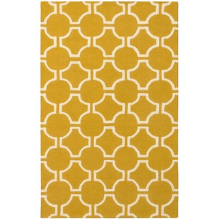 Kasbah Cream/ Gold Open Field Rug - 5' x 8'