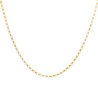 Sterling Essentials Yellow Goldplated Silver Rolo Chain 1.5mm Necklace