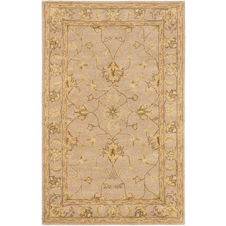 Timeless Khaki Open Field Rug (5' x 8')