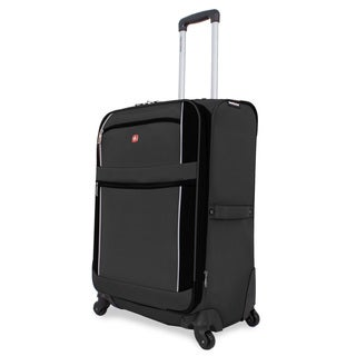 SwissGear Charcoal/Black 24-inch Upright Spinner Suitcase