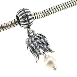 Queenberry Sterling Silver Holy Spirit Guardian Angel European Bead Charm