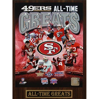 49ers All Time Greats Commemorative Plaque