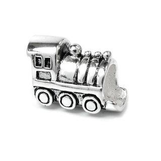 Queenberry Sterling Silver Choo Choo Train Engine Car European Bead Charm