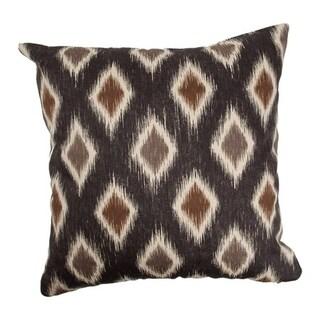 Faela Diamond Black/ Brown Down Fill Throw Pillow