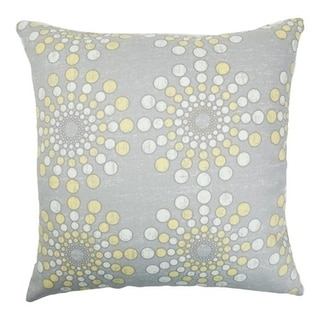 Laidley Dot Canary Down Fill Throw Pillow