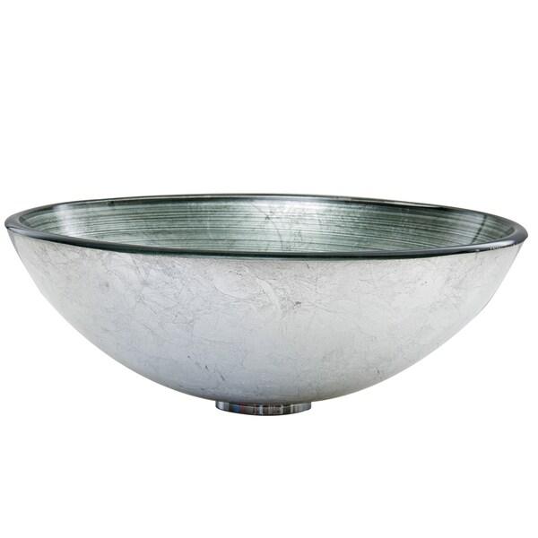 VIGO Simply Silver Glass Vessel Sink   Free Shipping Today   Overstock.com    16803220
