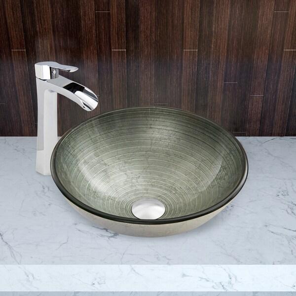 Beautiful VIGO Simply Silver Glass Vessel Sink   Free Shipping Today   Overstock.com    16803220