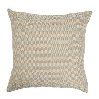 Caelic Zigzag Blue/ Yellow Down Fill Throw Pillow