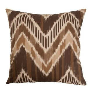 Aacharya Walnut Zigzag Down Filled Throw Pillow
