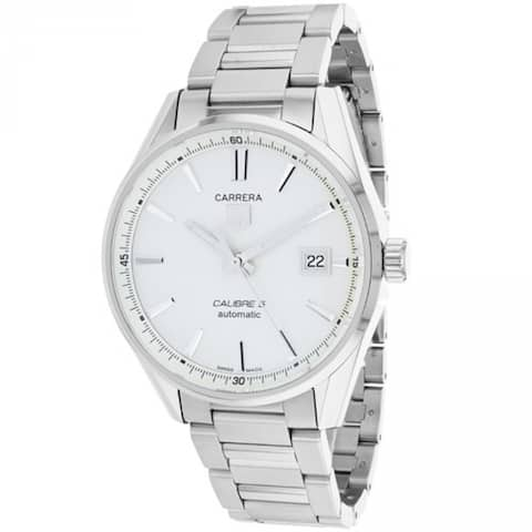 Tag Heuer Men's WAR211B.BA0782 'Carrera' Silver Dial Stainless Steel Automatic Watch
