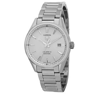 Tag Heuer Men's 'Carrera' Silver Dial Stainless Steel Automatic Watch