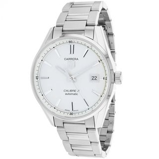 Link to Tag Heuer Men's WAR211B.BA0782 'Carrera' Silver Dial Stainless Steel Automatic Watch Similar Items in Men's Watches