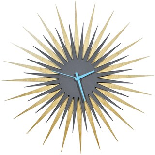 Modern Crowd Atomic Era Clock in Maple and Grey (5 options available)