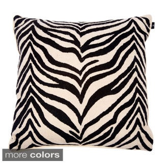 Hand Crewel 18-inch Throw Pillow Cover (No Fill)