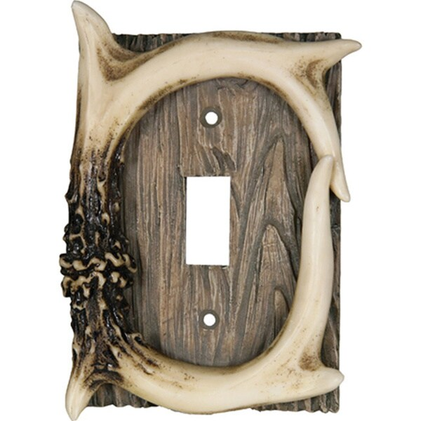 River's Edge Products Deer Antler Single Lightswitch Cover