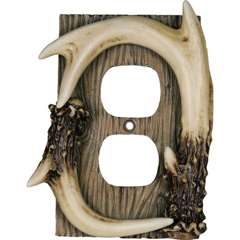 River's Edge Products Deer Antler Outlet Receptical Cover