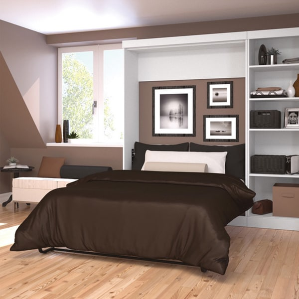 Shop Pur By Bestar Full Wall Bed With Storage Unit