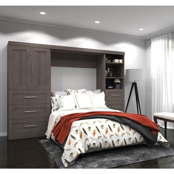 Shop Pur By Bestar Full Wall Bed And Enclosed Storage Unit