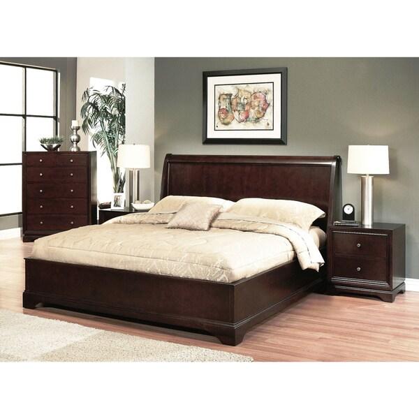 Abbyson Living Beverley 4 Piece Espresso Bedroom Set