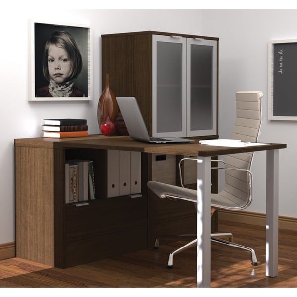 i3 by Bestar L-Shaped desk - Free Shipping Today - Overstock.com