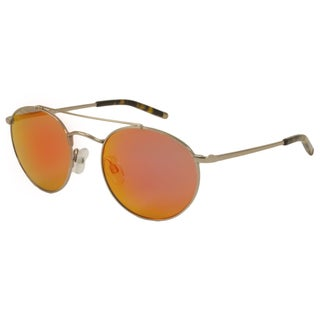 Kenneth Cole New York Mens KC7096 45L Round Sunglasses, Shiny Light Brown