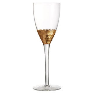 Fitz and Floyd Daphne 10-ounce Gold Wine Glasses