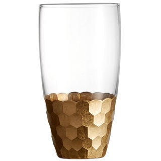 Fitz and Floyd Daphne Gold Hiball 17.6-ounce Tumblers (Set of 4)