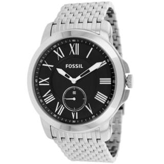Fossil Men's FS4944 Grant Round Silvertone Bracelet Watch