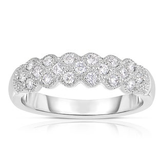 Eloquence 14k White Gold 1/3ct TDW Prong Set Diamond Band