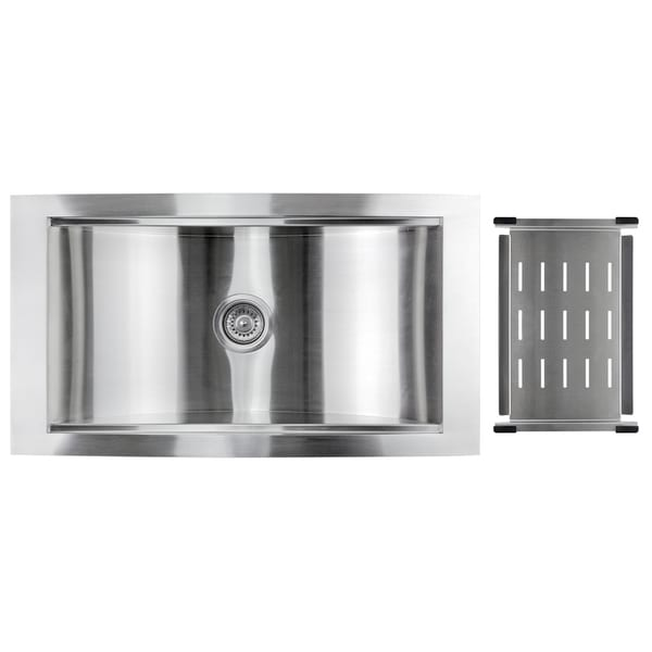 ... Vantage Stainless Steel 34-inch Single Bowl Undermount Kitchen Sink
