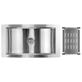 Golden Vantage Stainless Steel 34-inch Single Bowl Undermount Kitchen Sink