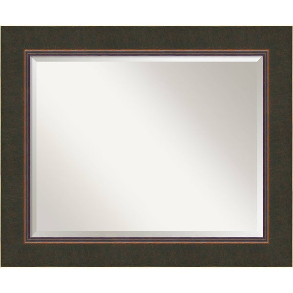 Wall Mirror Large, Milano Bronze 35 x 29-inch - Brown - large - 35 x 29-inch