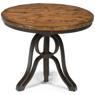 Cranfill Industrial Aged Pine Round End Table With