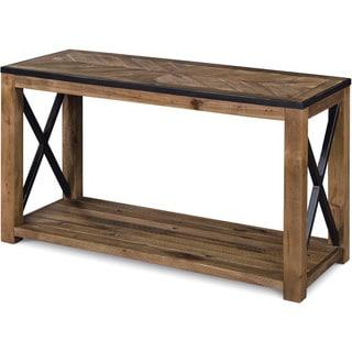 Penderton Rustic Natural Sienna Entryway Console Table