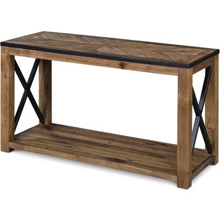 Penderton Rustic Natural Sienna Entryway Console Table