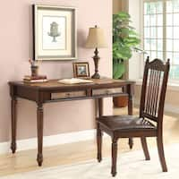 Coaster Company Cherry/ Coffee 2-piece Solid Wood Desk and Chair Set