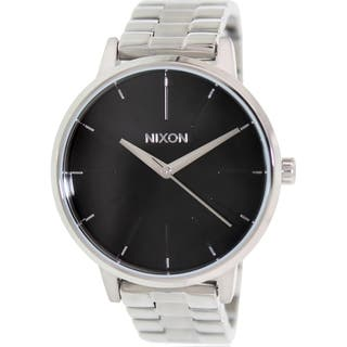 Nixon Men's Kensington A099000 Silver Stainless-Steel Quartz Watch with Black Dial|https://ak1.ostkcdn.com/images/products/9618201/P16802969.jpg?impolicy=medium
