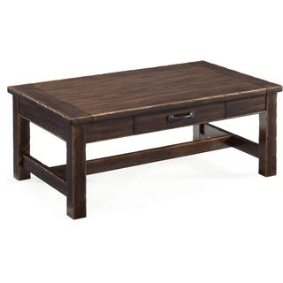 Magnussen Kinderton Wood Step-Up Rectangular Cocktail Table