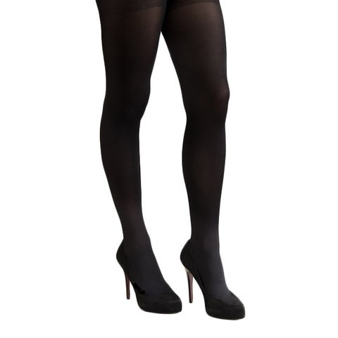 Coquettes Silky Opaque Total Control Top Nero Tights