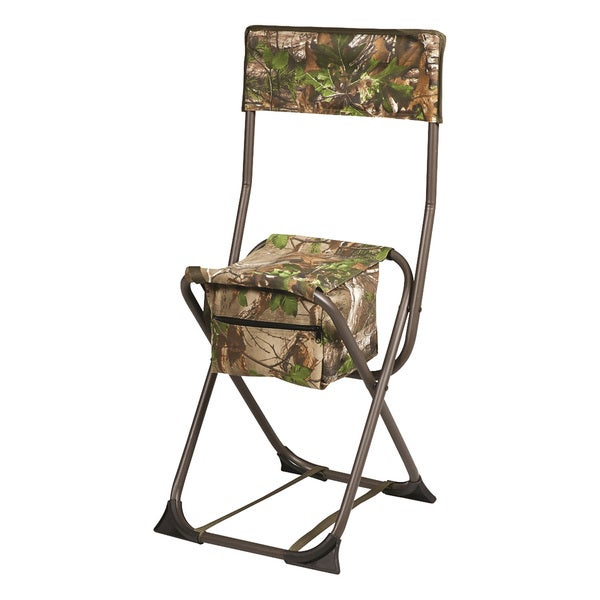 Hunter's Specialties Real Tree Xtra Green Camo Dove Chair with Steel Back