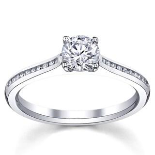 14k White Gold 1 1/6ct TDW Certified Diamond Engagement Ring