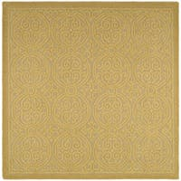 Safavieh Handmade Cambridge Light Gold/ Dark Gold Wool Rug - 10' x 10' square