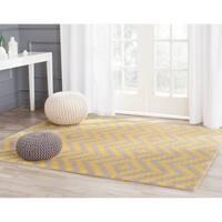 Safavieh Handmade Cambridge Taupe/ Gold Wool Rug (3' x 5')
