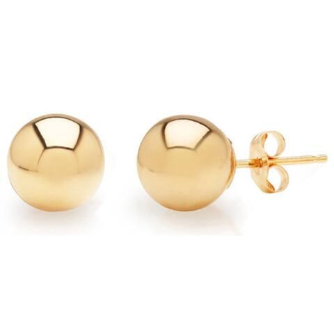 Mondevio 14k Gold Ball Stud Earrings