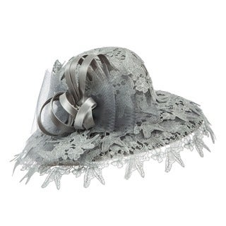 Giovanna Signature Women's Lace Mesh Ribbon Hat
