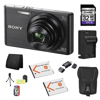Sony DSC-W830 Black 20.1MP Digital Camera Bundle