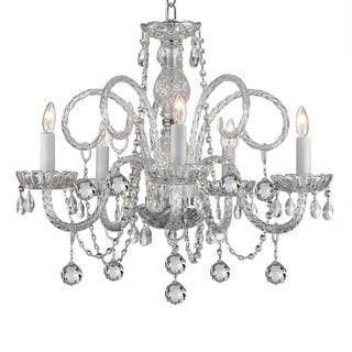 5-light Venetian Style Crystal Chandelier