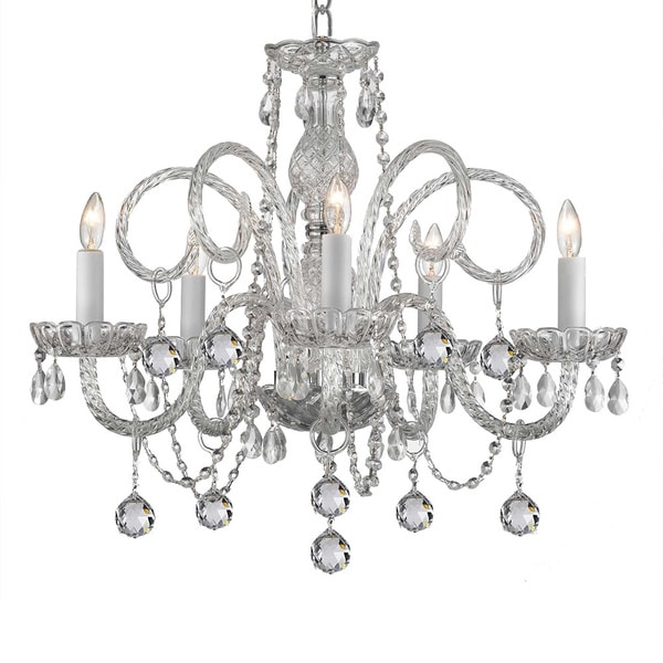 Shop 5 light venetian style crystal chandelier free shipping today 5 light venetian style crystal chandelier aloadofball Images