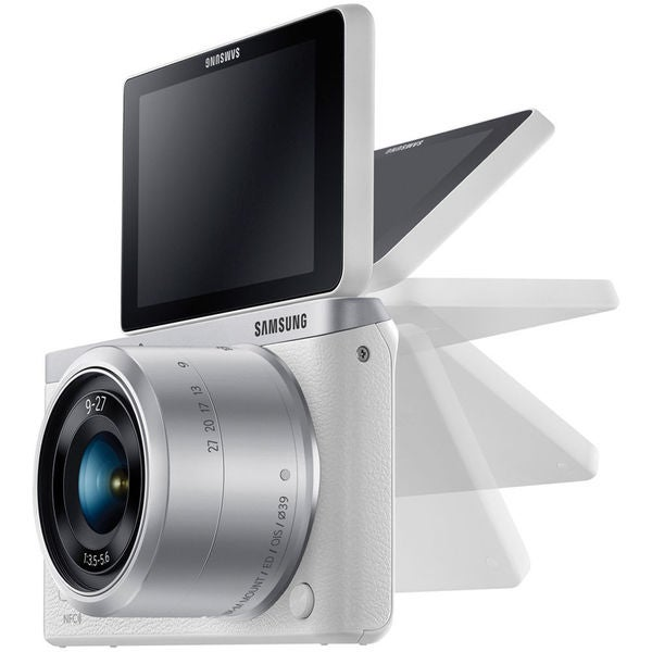 Samsung NX Mini Mirrorless White Digital Camera with 9-27mm Lens